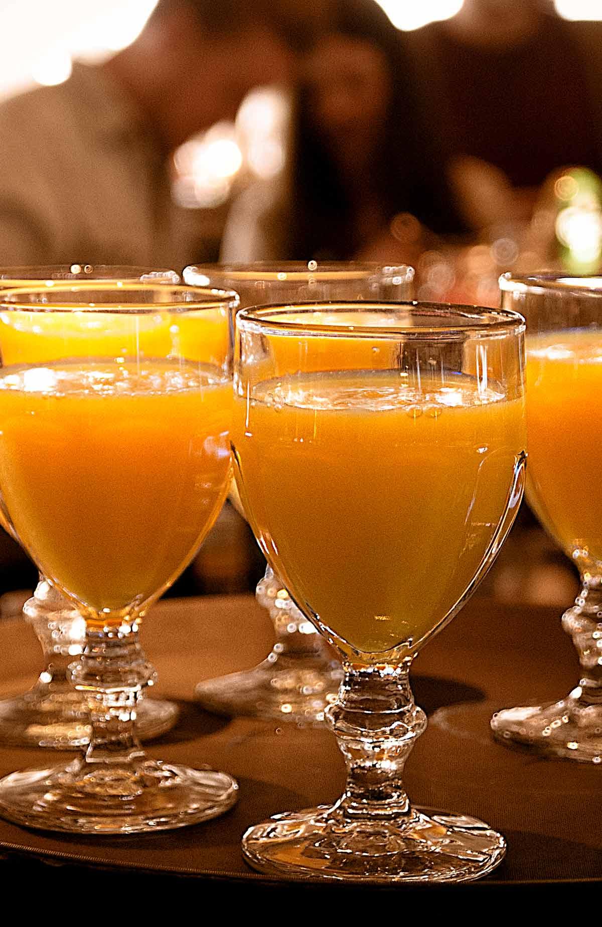 Törstsläckande juice till frukosten när du bor på Falkenberg Strandbad