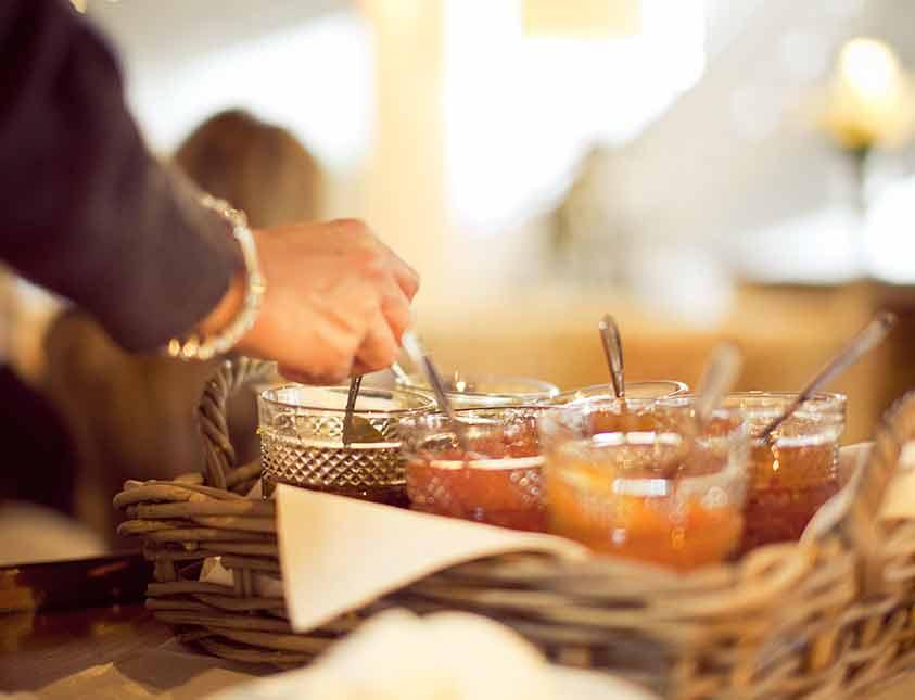 Härliga marmelader till frukost när du övernattar på Falkenberg Strandbad