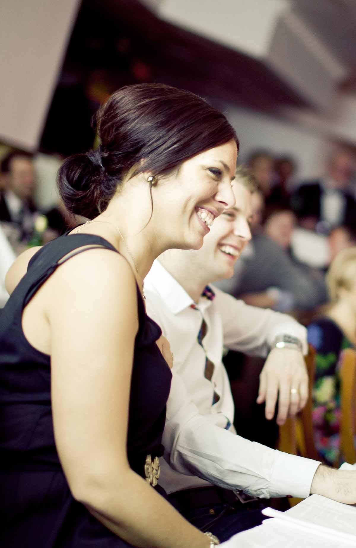 Nära till skratt när du äter lucnh på Falkenberg Strandbad