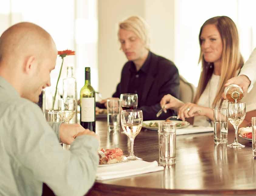 Lunch med kollegor på Falkenberg Strandbad