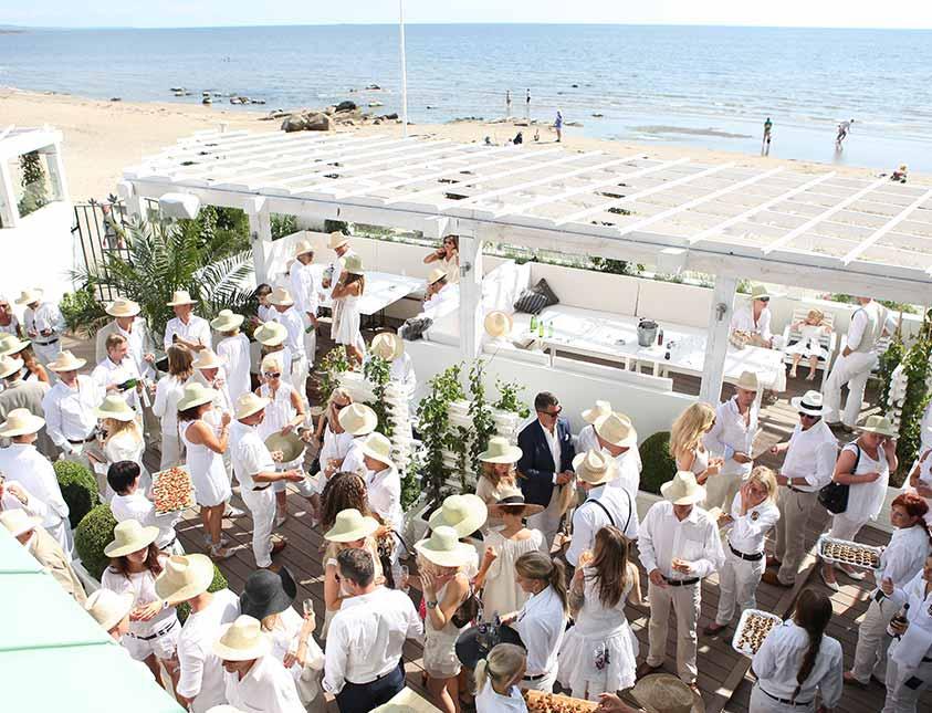 Sommarfest me företaget på Bistro Mer på Falkenberg Strandbad