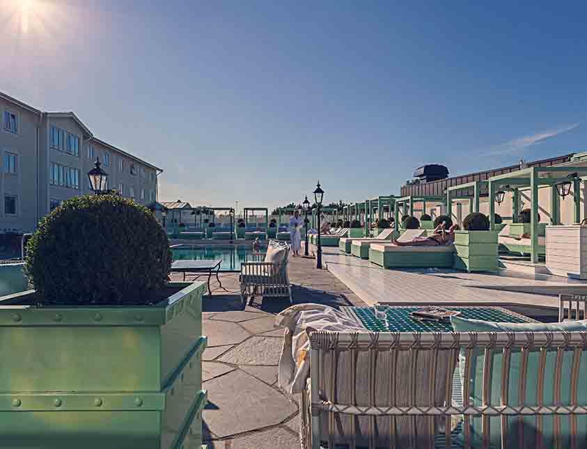 En varm och solig dag är ljuvlig på Falkenberg Strandbad