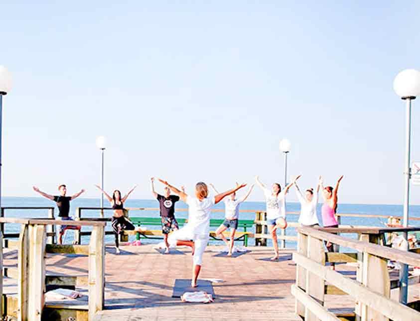 Sommar och träning går ihop på Falkenberg Strandbad